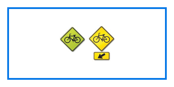 course bike crossing sign