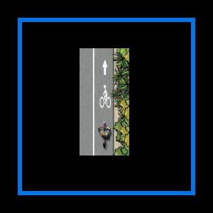course bike lane