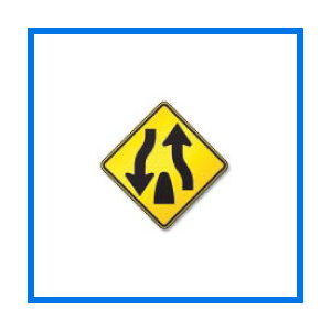course divided hwy ends sign
