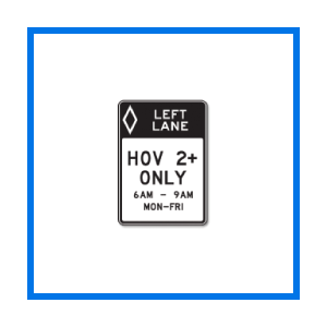 course hov sign
