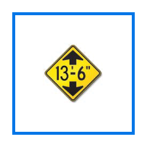 course low clearance sign