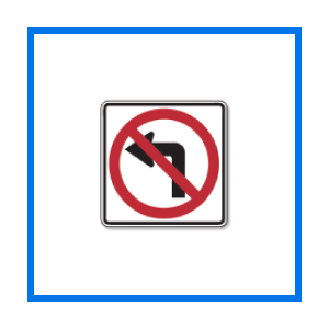 course no left turn sign