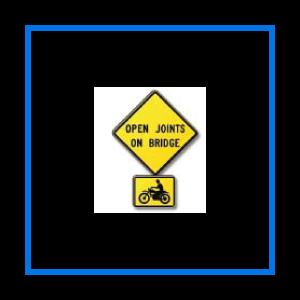 course open joints bridge sign