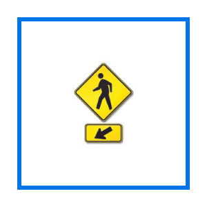 course ped crossing sign