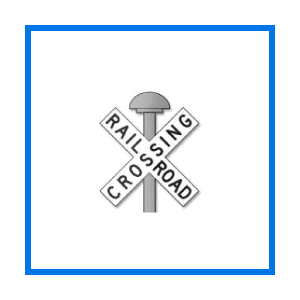 railroad crossbuck sign