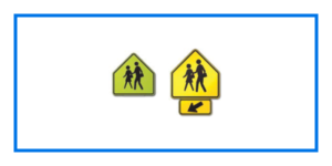 course school crossing sign