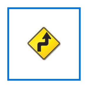 course sharp left right turns