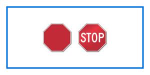 course stop sign shapes