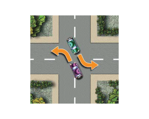 course turning vehicles