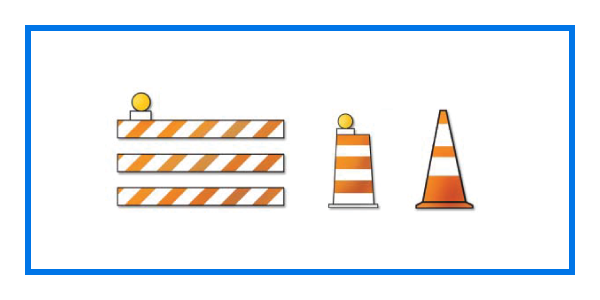 course traffic control devices