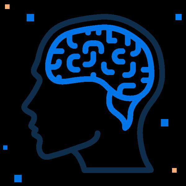 blue brain drawing
