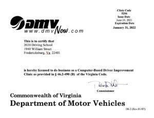 online driver improvement license from dmv