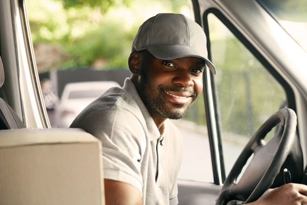 cdl driver in truck