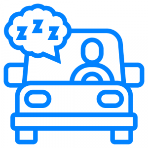 drowsy driving icon